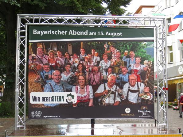 Der Bayerische Abend findet am 15. August im Rahmen des Jägerfests statt.