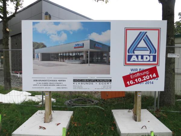 Der neue ALDI-Markt Olsberg eröffnet am 16. Oktober. (foto: zoom)