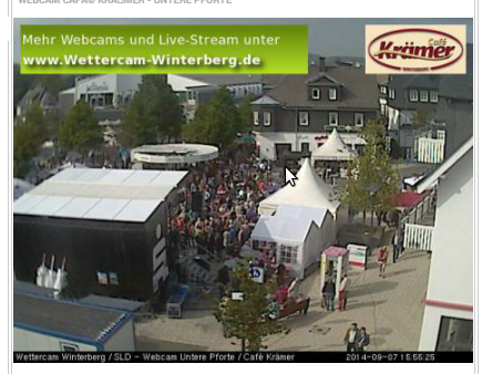 So sah das Stadtfest heute Nachmittag auf der sogenannten Wetter Webcam aus. (screenshot)