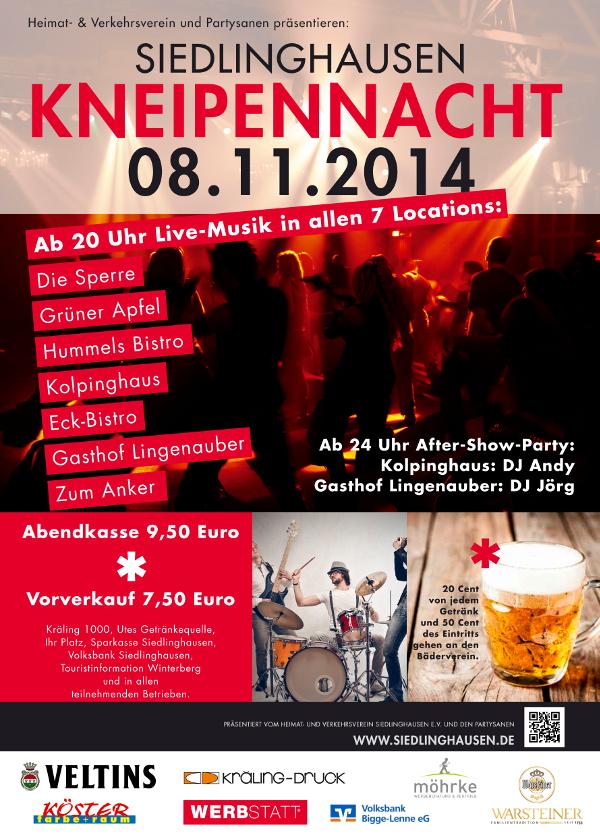 Der 8. November wird ziemlich heiß in Siedlinghausen: Der Programm-Flyer