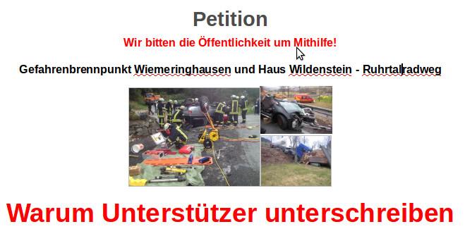 Screenshot aud dem Schreiben, warum Unterstützet die Petition unterschreiben (siehe Link im Artikel)