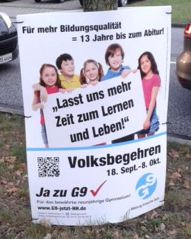 Volksbegehren G9 in Hamburg. (foto: hannah)