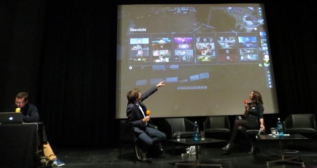 So geht das mit Pageflow - David Ohrndorf und Stefan Domke (beide WDR) erklären die Storytelling-Software.