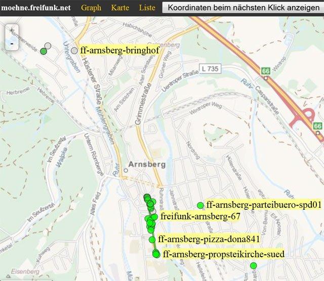 Der Freifunk wächst in Arnsberg ...