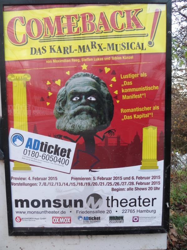 Nach Ramelow in Thüringen kommt jetzt auch Karl Marx nach Hamburg. (foto: zoom)