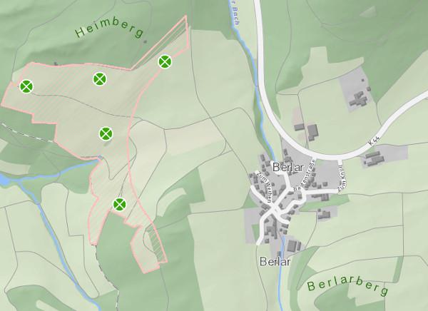Die fünf Windräder bei Bestwig-Berlar (screenshot)