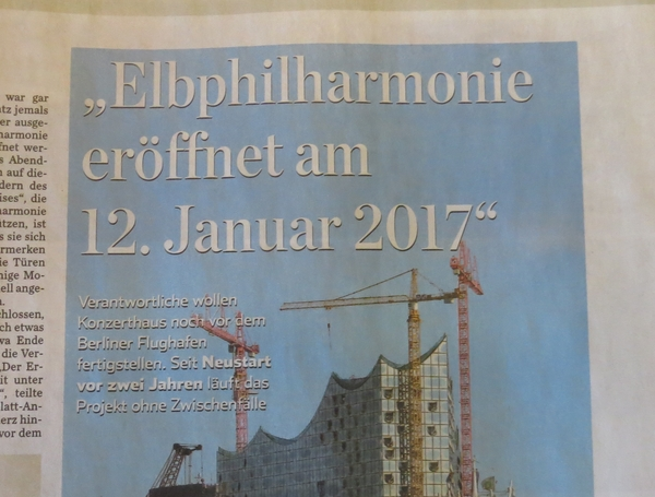 Die Elbphilharmonie soll vor dem Berliner Flughafen fertig sein. (foto: zoom)