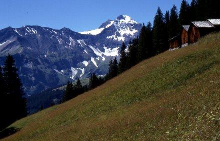 In den Glarner Alpen, Unterengadin, Schweiz
