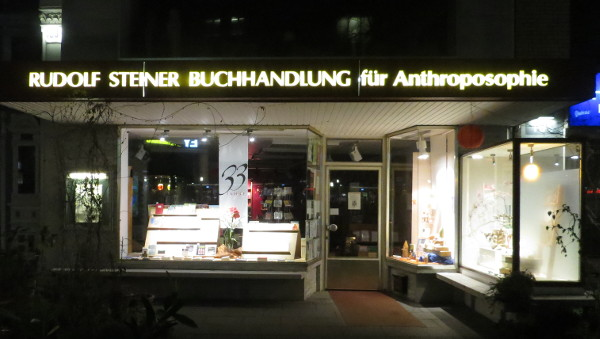 Steiner Buchhandlung in Hamburg an der Rothenbaumchausse (fotos: zoom)