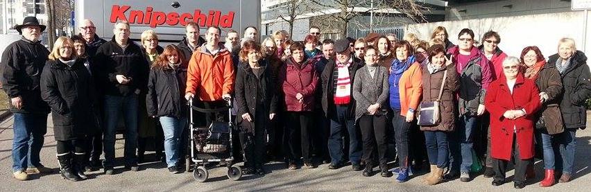 Die Reisegruppe der AfA-HSK zum Kölner Karneva. (foto: wiegelmann)l