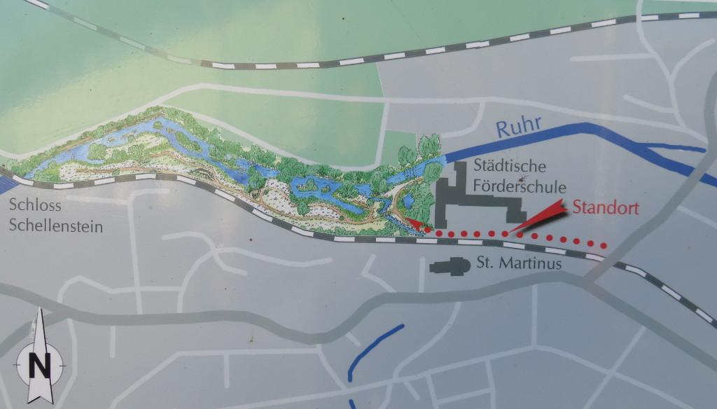 Kleine Orientierungshilfe vor der Ruhraue. (fotos: zoom)