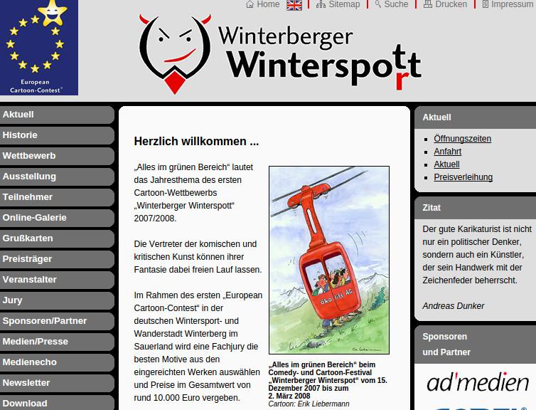 Großspurig gescheitert?  Als Eintagsfliege verhungert? Winterberger Winterspott. (screenshot)
