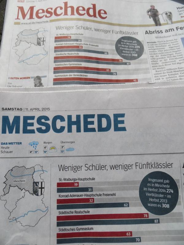 Westfalenpost und Zombie-Zeitung WR.