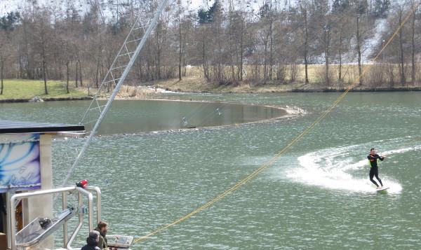 Der zweite Wassersportler, den ich  auf dem Hillebachsee beobachten konnte.
