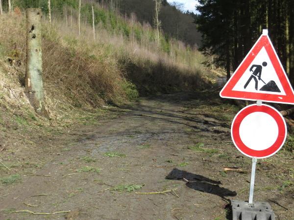 """""""Offiziell"""" wäre der Ruhrtalradweg damit gesperrt, oder?"""