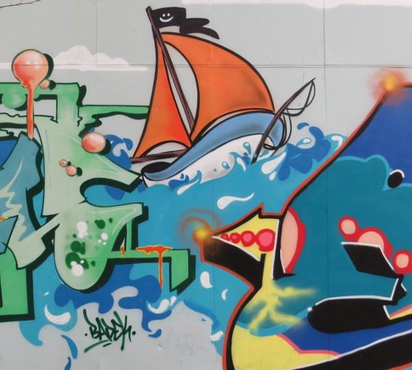 Graffito am Goldbekkanal in Hamburg Winterhude. (foto: zoom)