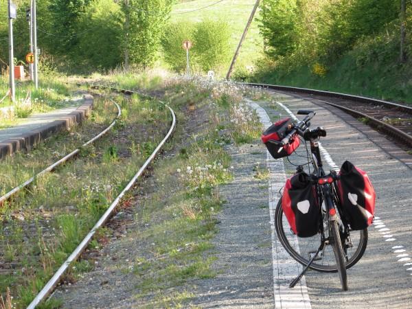 Unser Bahnhof in Siedlinghausen. Die Natur holt sich ihr  Land zurück.