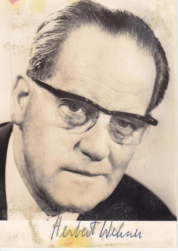 Autogrammkarte von Herbert Wehner um 1978