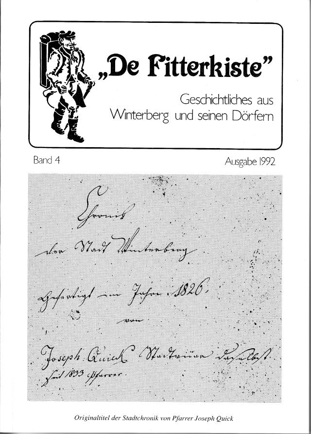"""In """"De Fitterkiste"""" Bd. 4, 1992 ist der Aufsatz """"Juden in Winterberg"""" erschienen."""
