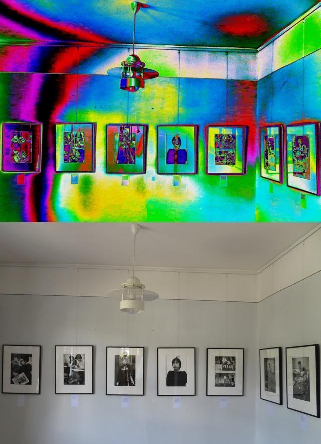 So habe ich die Ausstellung gesehen (oben), und so sah sie für andere aus (unten) (fotocollage: zoom)