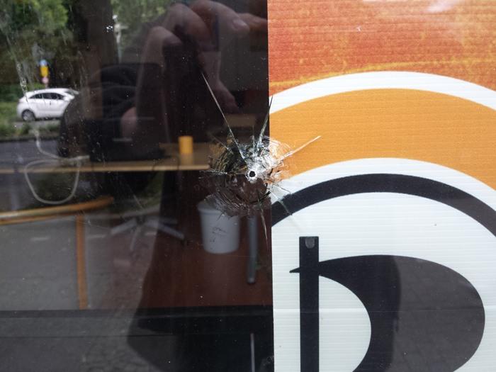 Anschlag auf das Büro der Dortmunder Piraten. (foto: piraten)