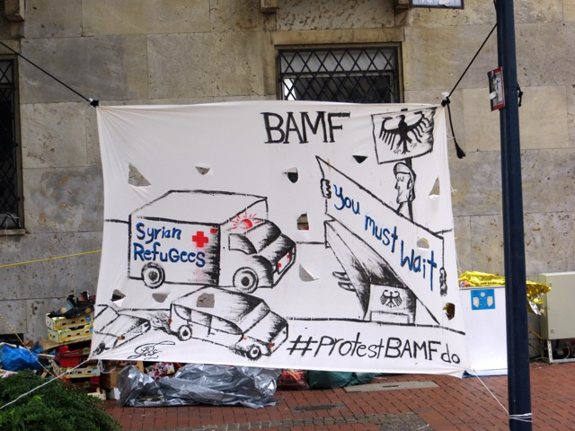 Syrische Kriegs-Flüchtlinge richten eine Petition an das Bundesamt für Migration und Flüchtlinge (BAMF)