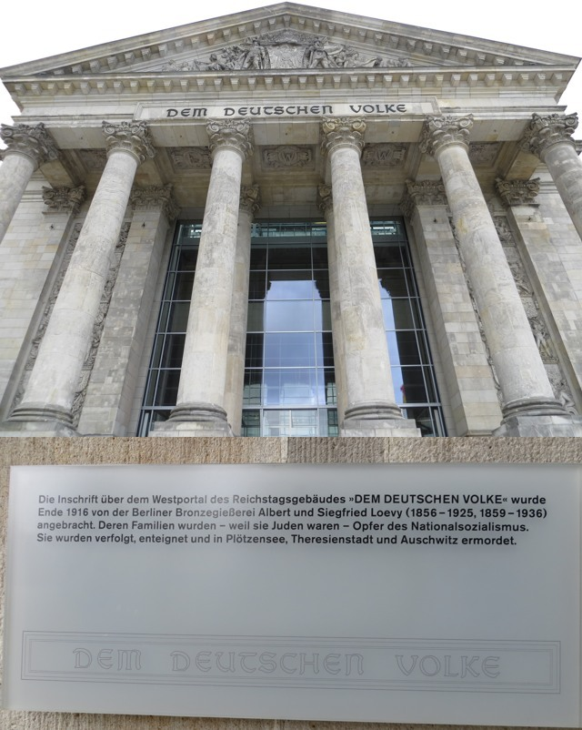 Schon bei meinem letzten Reichstagsbesuch wollte ich die beiden Bilder zusammenfassen. (fotocollage: zoom)