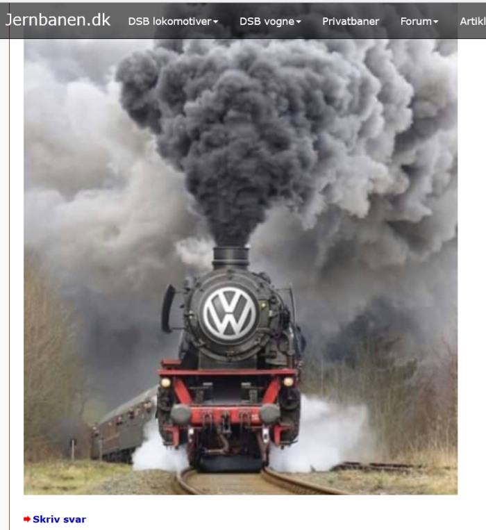 Da hat doch tatsächlich ein dänischer Eisenbahnfreund meine Dampflok-Aufnahnme verfremdet. Gute Idee! (screenshot: zoom)
