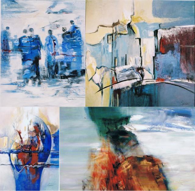 Auf einen Blick Vier Werke von Irmtraud Schniedenharn (collage: zoom)