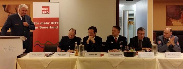 Foto v.l.:  Albrecht Broemme, Bernd Krause, Dirk Wiese, Carsten Kersenbrock, Christian Dahm, Heiner Westermann (foto: spd)