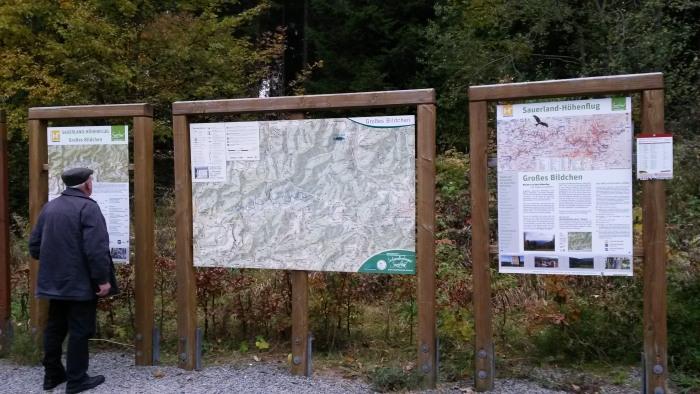Das Große Bildchen - startpunkt für Wanderer, Läufer und Mountainbiker (foto: zoom)