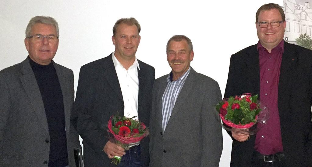 Der neue Fraktionsvorstand (von links): Richard Gamm, Jörg Burmann, Fritz Kelm, Torben Firley (foto: spd)