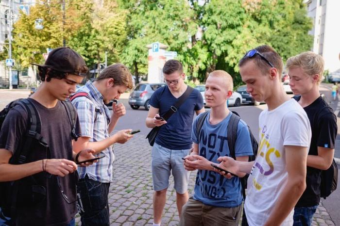 Eine MapMyDay Gruppe in Aktion. (pressefoto: mapmyday)