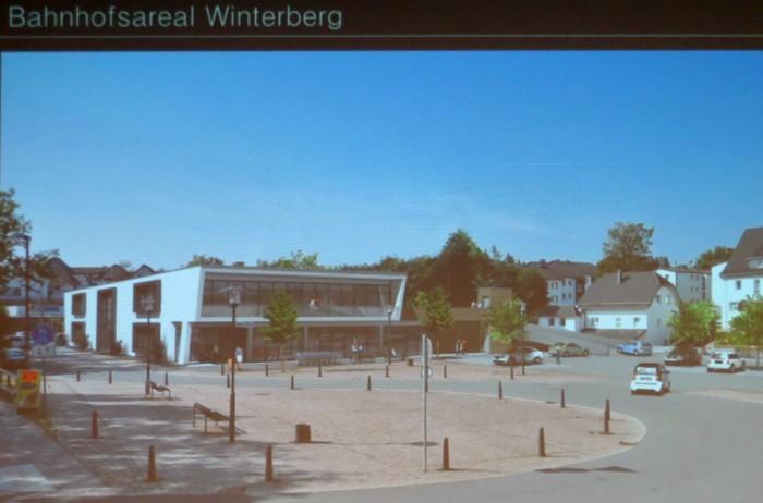 """Das Gebäude verdeckt Blickrichtung """"Neue Mitte"""" den Edeka-Markt und DM."""
