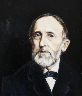 01 Friedrich Wilhelm Grimme (1827-1887), der bekannteste Pionier der plattdeutschen Sauerlandliteratur (Ölbild des Esloher Künstlers Thomas Jessen).