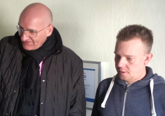 Bürgermeister Brodel im Gespräch mit dem 1. Vorsitzenden Sebastian Michel