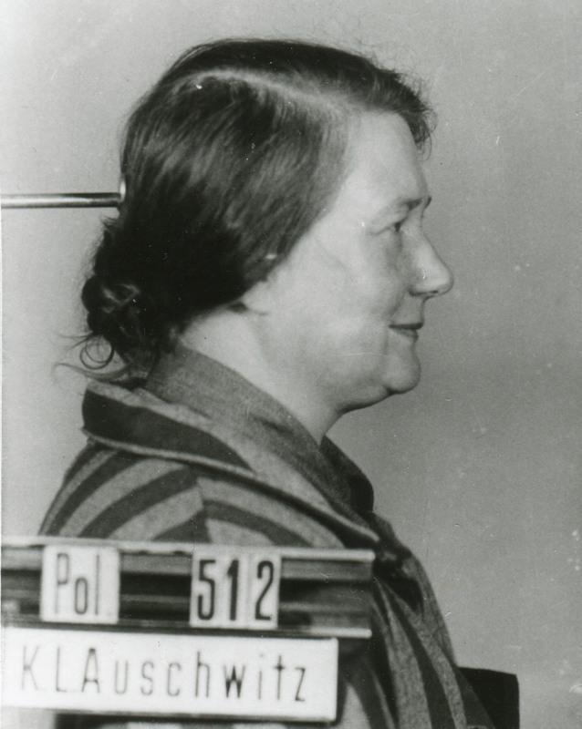 Die sauerländische Ordensfrau Angela (Maria) Autsch als KZ-Häftling (Archiv der Trinitarierinnen Mödling, Österreich).