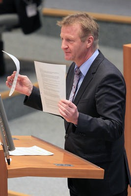 Innenminister Ralf Jäger Ende Januar 2016 im Landtag. (foto: Bildarchiv des Landtags Nordrhein-Westfalen - Bernd Schälte)