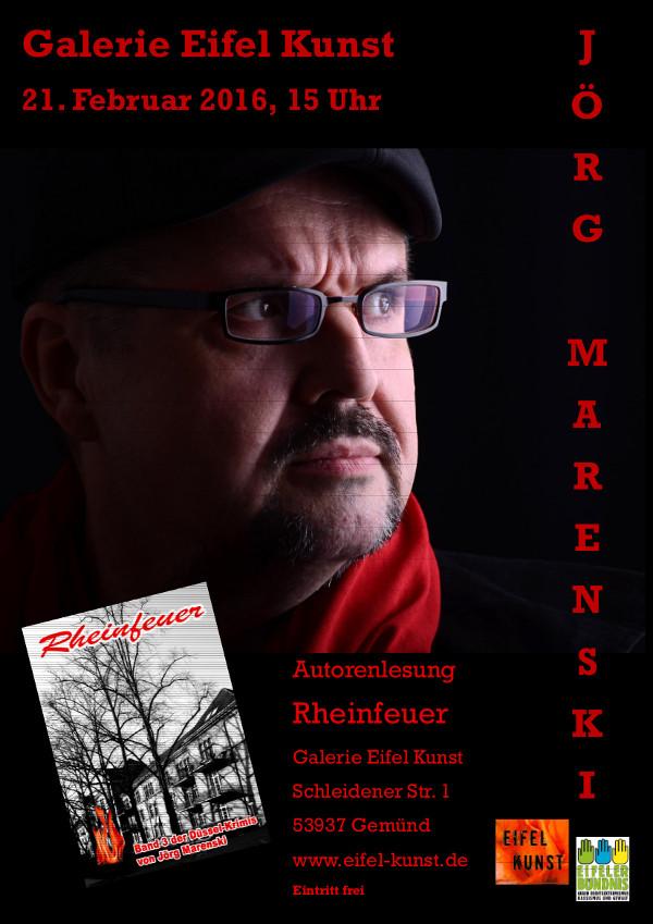 Jörg Marenski, der Autor der Düsselkrimis, liest in der Eifel. (foto: galerie eifel kunst)