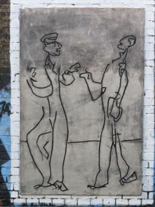 Graffito am S-Bahnhof Savigny-Platz (foto: zoom)