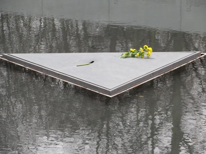 Gedenkstätte für die ermordeten Roma und Sinti.