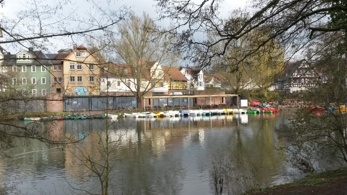 Die Lahn in Marburg. (foto: zoom)