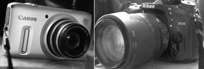 Links meine bisherige Minimalausstattung, rechts das neue Sorgenkind (fotos&collage: zoom)