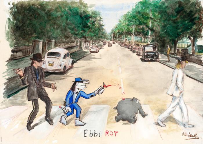 Ebbi Rot - Udo 50 x 65 cm (bild: otto waalkes/Walentowski-Galerien)