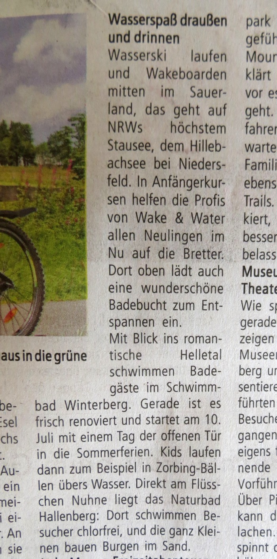 Keine Erwähnung des Freibads Siedlinghausen.