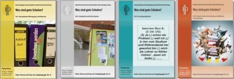 """Vier Bände zum Thema: """"Was sind gute Schulen?"""" (fotomontage: zoom)"""