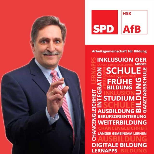 Felix Werker engagiert sich in und außerhalb der SPD für mehr digitale Bildung an den Schulen. (grafik: AfB)