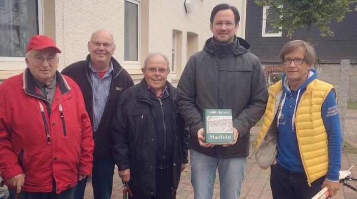 Im Bild v. l. Bruno Oppermann, Ludger Böddeker, Heinz Bickmann, Dirk Wiese MdB und Horst Kurzer (foto: spd)
