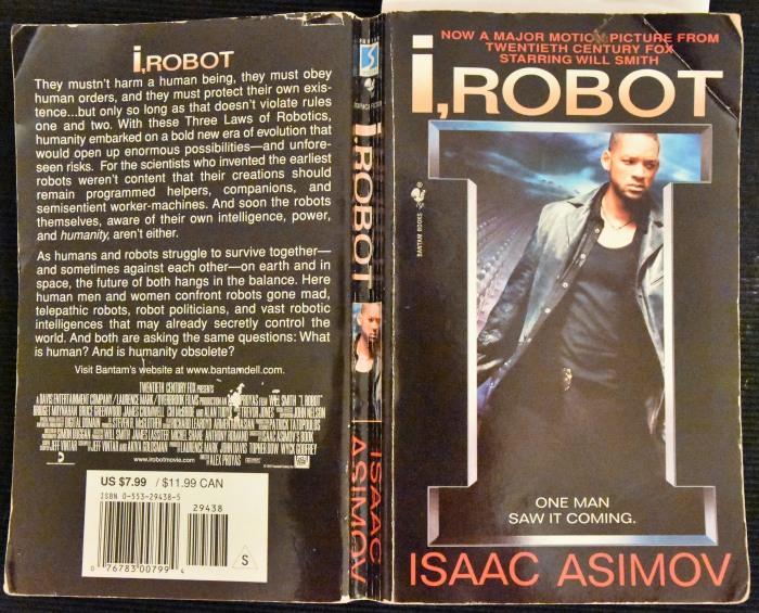 Einige Eselsohren und Knicks im Cover später: I, Robot von Isaac Asimov (foto: zoom)