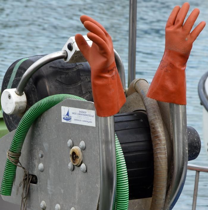 """""""Griffbereit!"""" - Gesehen im Hafen von Niendorf. (foto: zoom)"""